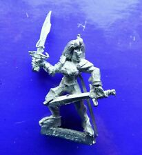 Dark elf witch warrior female metal elves citadel unknown maker dual swords #A