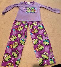 Nickelodeon TMNT GIRLS Pajamas Pjs Set Purple SZ- S 6