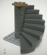 LEGO Spiral Staircase Complete Assembly Dark Bluish Gray