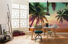 Wall Mural Photo Wallpaper MIAMI PALM BEACH Retro Room Decor 368x254cm