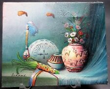 """Oil Painting Still Life Native American """"Redmond"""" Signed On Canvas"""