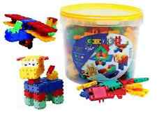 Clics Construction Toy 175 Piece Tub Build People House Aeroplane Toys Building