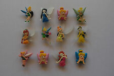 6 x TINKERBELL SHOE CHARM PARTY FAVOR CAKE DECORATION SCRAPBOOKING