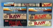 RAW + ELEMENTS + WIZ CONNOISSEUR + KINGSIZE ROLLING PAPERS + BAMBOO MAT + TIPS