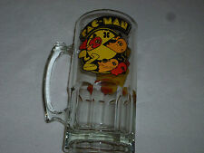 VINTAGE PACMAN GLASS BEER HEAVY MUG 1982 MIDWAY BALLY ARCADE STEIN VIDEO GAME