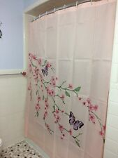 Cherry Blossom Shower Curtain Butterfly Pink Floral Flower Bath Decor Asian Bath