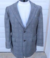 Brooks Brothers 346 44R Sport Coat Gray Glen Plaid Wool Blazer