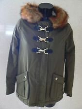 RIVER ISLAND Khaki Duffle  / Parka Jacket Fur Hood Size 6  NEW TAGS
