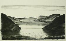 FRITZ KEMPE - Gebirgssee - Lithografie 1930