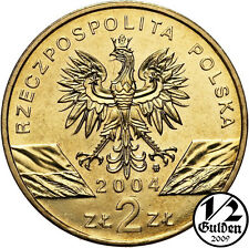 POLAND FULL SET OF 24 COINS 2 ZLOTYCH 2004 NORDIC GOLD POLISH UNCIRCULATED