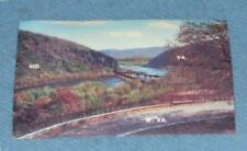 POST CARD OF  Three States and the Potomac & Shenandoah Rivers at HARPERS FERRY,