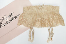 AGENT PROVOCATEUR SOIREE GARDINIA WASPIE PEACH SIZE 3/MEDIUM/10-12 BNWT RRP £495
