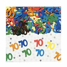 Party Birthday Number 70 - 70th Multi Coloured Table Confetti Decoration 992999
