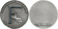 LE FOUDROYANT,SOUS MARIN,rondache argentée 36 millimètres,Y.Boussemart(4640)