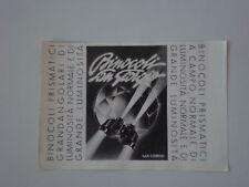 advertising Pubblicità 1943 BINOCOLI SAN GIORGIO