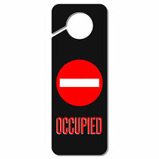 Occupied Red Circle Plastic Door Knob Hanger Sign