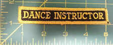 New Sew On Patch - DANCE INSTRUCTOR - Black with gold color stitching