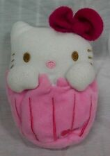 "Sanrio HELLO KITTY AS CUPCAKE 6"" Plush STUFFED ANIMAL Toy with zippered pouch"