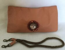 NWOT ELISE CAARELS  Leather Wristlet/Clutch/Shoulder Bag / Handbag