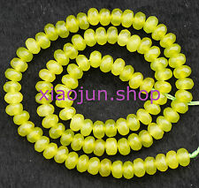 """Natural 4x6mm Faceted Peridot Abacus Loose Beads Gemstone 15"""""""
