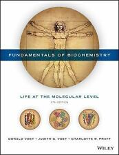 FUNDAMENTALS of BIOCHEMISTRY 5th US Ed by Voet, and Pratt **NEW**