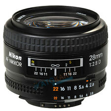 Brand New Nikon AF Nikkor 28mm f/2.8D Black Lens