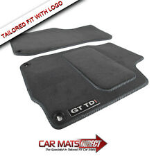 VW Golf MK4 GT TDI 97-04 Tailored Grey Car Floor Mats + Logos (Round Clips)