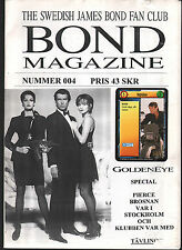 JAMES BOND SWEDISH FAN MAGAZINE 1995 RARE WITH BONUS TRADING CARD GOLDENEYE