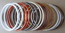 """Lot of 8 Pairs Assorted Colors 8"""" Round Plastic Macrame Purse Handles Craft Ring"""