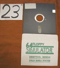 Floppy disc 5.25 inch 5 1/4 Commodore 64 simulator Obbiettivo Mosca Volo States