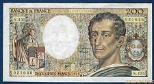 200 Francs Montesquieu Type 1981 - 1994 N.155 Qualité TTB +