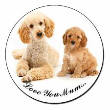 Cockerpoo Pup 'Love You Mum' Fridge Magnet Stocking Filler Christma, AD-CP2lymFM