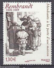 TIMBRE 3984 NEUF XX LUXE - REMBRANDT - MENDIANTS A LA PORTE D'UNE MAISON