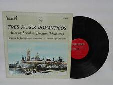 """TRES RUSOS ROMANTICOS Korsakov Borodin y Tchaikovsky  LP 12"""" Vinilo 1967"""
