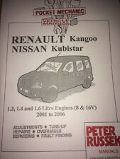 RENAULT KANGOO NISSAN KUBISTAR PETROL 1.2 1.4 1.6 8 AND 16V CAR MANUAL
