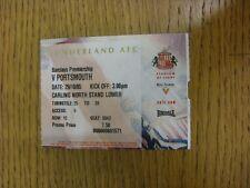29/10/2005 BIGLIETTO: Sunderland V Portsmouth (piegato). grazie per la visualizzazione di questo si