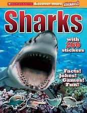 Scholastic Discover More Stickers: Sharks by Brown, Laaren, Good Book
