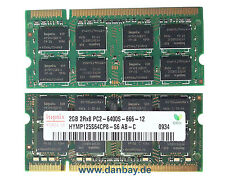 2GB Notebook Speicher 2Rx8 PC2-6400S-666-12 Hynix