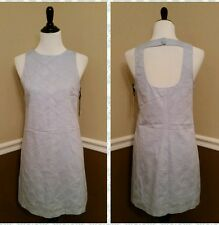 NWT BB Dakota $80 Pale Blue Cotton Shift Dress Sz 6 Open Back Modcloth Mod Retro