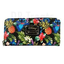 Loungefly Disney Stitch Hawaiian Pebble Print Pineapple Wallet by Loungefly NEW