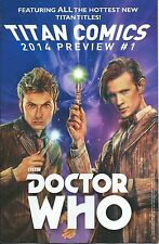 TITAN COMICS 2014 PREVIEW DR WHO NM RARE GIVEAWAY PROMO VARIANT