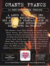 PUBLICITE ADVERTISING 054  1996  CHANTE FRANCE  radio la plus chantée 90.9 fm