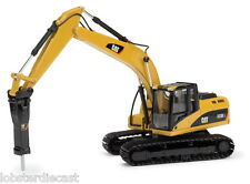 Cat 323D L Hydraulic Excavator with Hammer 1/50 scale model by Norscot 55282