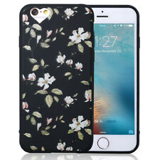 Floral Pattern Rubber Soft TPU Silicone Back Case Cover for iPhone 5 6 6s 7 Plus