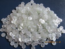 white shirt buttons 9mm 2 holes premature baby knits sold per 100 buttons