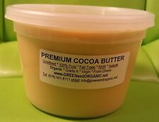 Raw 100%Pure Fresh Organic Unrefined Prime Cacao Cold Pressed COCOA BUTTER 16 oz