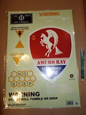 Big! Gundam Amuro Ray emblem sticker MOBILE SUIT UC mg hg Z ZZ not Gunpla Decal