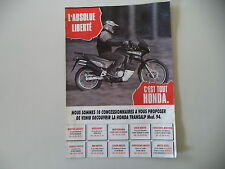 advertising Pubblicità 1994 MOTO HONDA XL 600 V TRANSALP RALLY TOURING