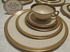 Lenox LOWELL 5pc PLACE SETTING(S) Gold Encrusted China P67 1stQual EXCELLENT