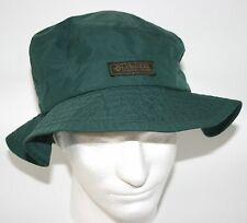 VINTAGE! Men's Columbia Wide Brim Green Camping Hiking Bucket Hat Size Medium M